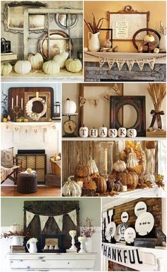10 Eclectic Thanksgiving Mantels | http://jillianastasia.com/thanksgiving-mantel-inspiration/