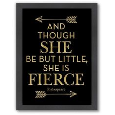 "Americanflat ""Fierce Shakespeare Arrows"" Framed Wall Art by Amy... ($110) ❤ liked on Polyvore featuring home, home decor, wall art, black, word wall art, vertical wall art, inspirational framed wall art, framed wall art and inspirational quotes wall art"
