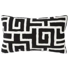 Pillows - Modern Threshold decorative pillow is designed in a black and white geometrical maze pattern and will bring boldness to your room. Pretty Patterns, Fun Patterns, Living Room Remodel, Greek Key, Yacht Club, Dream Life, Accent Decor, Decorative Pillows, Room Decor
