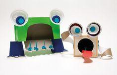 DIY Makedo Tissue Box Monster DIY Cardboard DIY Crafts