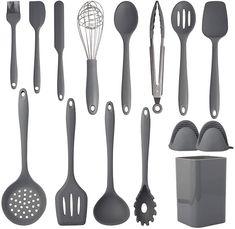 Silicone Kitchen Utensils, Cooking Utensils Set, Kitchen Utensil Set, Cooking Spoon, Kim's Kitchen, Kitchen Tools, Kitchenware Set, Clean Dishwasher, Cooking Gadgets