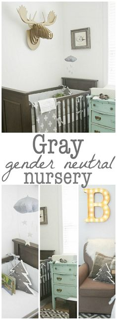 Gray Nursery - love the colors