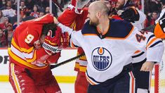 An offender involved in a brutal fight during an NHL match has defended his actions after punching his opponent and throwing him to the ground during Edmonton Oilers clash with Calgary Flames. Calgary, Edmonton Oilers, Hockey News, Toronto Girls, Nhl Games, Pittsburgh Penguins Hockey, Nhl Players, Los Angeles Kings, Tough Guy