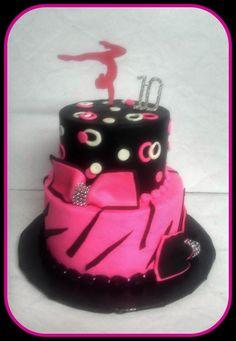 Gymnastics themed cake