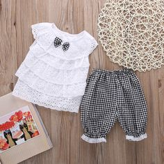 cool Baby Toddler Kids Girls Outfit Clothes RT T-shirt Tops+short Pants Trousers 2PCS   Check more at http://harmonisproduction.com/baby-toddler-kids-girls-outfit-clothes-rt-t-shirt-topsshort-pants-trousers-2pcs/