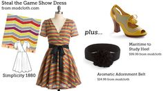 (via Make This Look: Steal the Game Show Dress | The Sew Weekly - Sewing & Vintage Lifestyle)