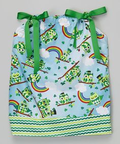 895a883c498c Love this White  amp  Green Leprechaun Owls Dress - Infant