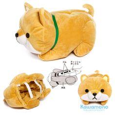 Meiho Shiba Inu Dog Brown stuffed doll plush tissue box cover ME270 Cutie Japanese plush dog soft tissue box cover kawamono.com/doll/352-meiho.html #Meiho #ShibaInuDog #stuffed doll #plushdoll #tissueboxcover #cutie #stuffeddog #kawaii #onlineshop #onlineshopping #kawamono #giftshop #worldwideship