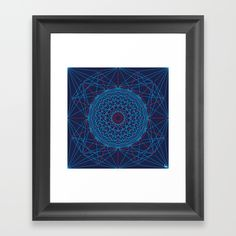 Geometric Circle Blue/Red Framed Art Print by Fimbis   ________________________ Choose from a variety of frame styles, colors and sizes to complement your favorite Society6 gallery, or fine art print - made ready to hang. Fine-crafted from solid woods, premium shatterproof acrylic protects the face of the art print, while an acid free dust cover on the back provides a custom finish. All framed art prints include wall hanging hardware.