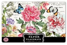 Michel Design Works 25 Count Peony Paper Placemats Michel Design Works http://www.amazon.com/dp/B00IIW0052/ref=cm_sw_r_pi_dp_nCYYtb0Y3Y0J15MZ