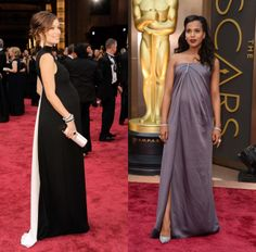 Pregnancy Gowns - Oscars 2014 - Olivia Wilde in Valentino and Kerry Washington in Jason Wu