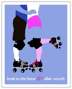 Boy Meets Girl -  Roller Derby Poster - Add custom text, font and colors - by Derby Girl Posters