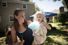 Cotton Candy at vintage boardwalk birthday