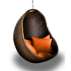 Love it! Cove Chair Chocolate/Tangerine now featured on Fab.