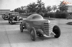 The first Soviet car racing.  GAZ-GL-1.  1938