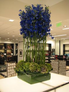 Examples of modern floral arrangements from Helen Olivia Flowers in Old Town Alexandria. Hotel Flower Arrangements, Types Of Flower Arrangement, Modern Floral Arrangements, Beautiful Flower Arrangements, Floral Centerpieces, Beautiful Flowers, Exotic Flowers, Purple Flowers, Hotel Flowers