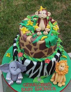 Jungle cake.jpg (466×597)   By Cake by Kim