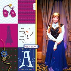 Disney's Anna digital Project Life layout featuring Project Mouse: Ice by Britt-ish Designs and Sahlin Studio