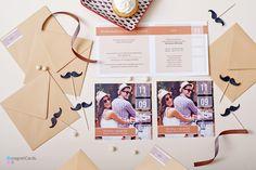Zaprosznie ślubne ze zdjęciem jako kartka pojedyncza lub otwierana. Koperta z naklejką z motywem z zaproszenia.