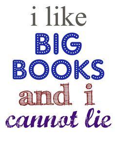 """I like big books"" free printable"