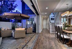 Indoor Outdoor Spaces. Slide-away glass doors combine the indoors and outdoors, creating an ideal place to entertain #Indoor Spaces #OutdoorSpaces