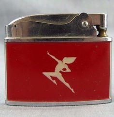 The Milwaukee Road Lighter Vintage Red Hiawatha Logo Warren Japan Railroad Train