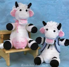 Crochet Toy Cows Crochet Pattern. PDF Instant by KrohshayAndSuch