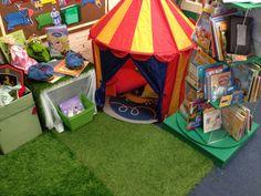 Our EYFS Castle/ fairy tale themed reading area