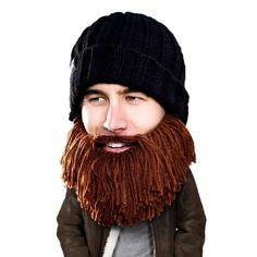 15c47b5b08b Barbarian Vagabond Beard Head knit beanie with beard! Makes a great gift!  Available at