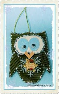 Coffee Sleeve Owl Ornament