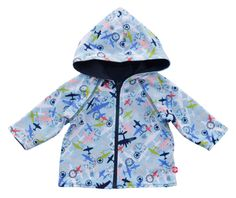 Zutano Reversible Aviation Hoodie - Baby Boy – Kids on King