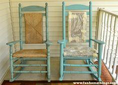 Annie Sloan Chalk Paint--Rocking Chair Makeover   Fun Home Things