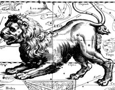Leo constellation from Uranographia by Johannes Hevelius.