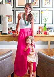 maxi skirt and tank with turquoise necklace -- honeymoon outfit?