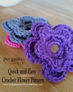 Free Crochet Pattern Interchangeable Flower (for hats) - Holyjeans and My Favorite Things