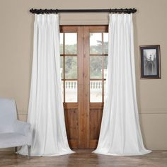 Shop for Exclusive Fabrics Signature Pinch-pleated Blackout Solid Velvet Curtain Panel. Get free delivery at Overstock - Your Online Home Decor Outlet Store! Get in rewards with Club O! Mattress Furniture, Home, Colorful Curtains, Panel Curtains, Blackout Curtains, Velvet Curtains, Curtains, Half Price Drapes, White Curtains