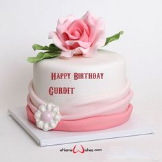 Enter Your Name on Birthday Cake - eNameWishes Happy Birthday, Birthday Cake, Your Name, Happy Aniversary, Happy B Day, Birthday Cakes, Cake Birthday, Happy Birth Day