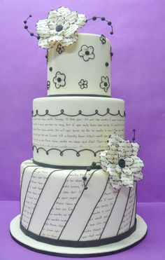 Cake with printed text