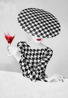 La Sombrerera de Lady Marlo: En blanco y negro. 20.000 entradas. Black and white photographs of hats