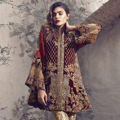 """Farah & Fatima Couture Shahnoor F/W 2016 """