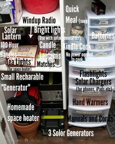 Take 10 minutes and move all your power out supplies together.  http://www.yourownhomestore.com/power-out-supplies-together/