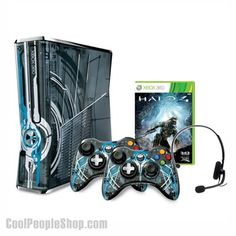 $400.85 Xbox 360 Limited Edition Halo 4 | Cool People Shop Begin the Halo Reclaimer saga in style on an Xbox 360 Limited Edition Halo 4 console bundle, complete with a customized Halo 4 Xbox 360 console  The Halo 4 console is a must have for Halo fans worldwide. Designed in collaboration with 343 Industries, this bundle includes an Xbox 360 Limited Edition Halo 4 console, 2 customized Halo 4 controllers, a Halo 4 Standard Edition game,