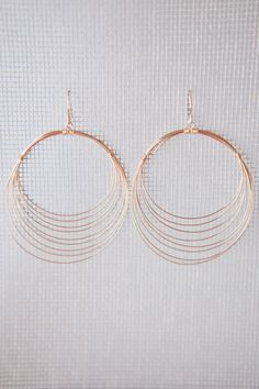 Shading In The Circle Earrings