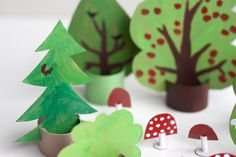 Create a Cardboard woods for imaginative play.