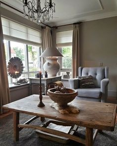 Roman shades with curtains Cosy Interior, Interior Design, Home And Living, Living Room, Rustic Interiors, Home Decor Kitchen, Decorating Your Home, Decoration, Sweet Home