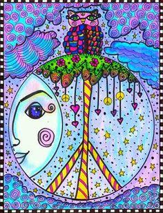 ☮ American Hippie Art ☮ Peace Sign