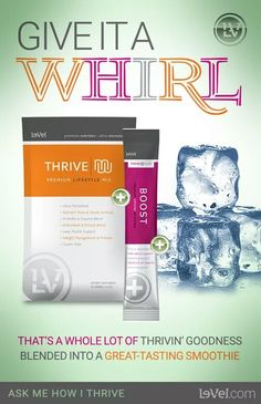 Best way to drink my thrive!!! You HAVE. To try this! www.simrin21.le-vel.com