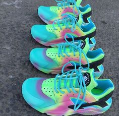 Nike Air Huarache Pastel Colour Sneakers Trainers Dope Footwear Marney Boi Customs