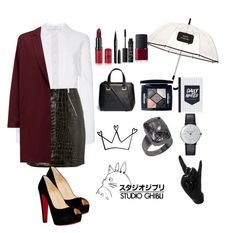 """""""confident"""" by ficfun ❤ liked on Polyvore featuring Carolina Herrera, Yves Saint Laurent, Kate Spade, American Vintage, Christian Louboutin, Rimmel, Marc Jacobs, NARS Cosmetics, Jimmy Choo and Christian Dior"""