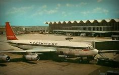 St Paul International Airport here my material Boeing 720, Republic Airlines, B720, Northwest Airlines, Minneapolis Minnesota, Commercial Aircraft, Air Travel, International Airport, North West